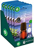 Airwick Ricariche per Diffusore di Oli Essenziali, fragranza Lavanda rilassante - Confezione da 6 Ricariche