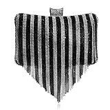 Mdsfe Moda Mujer Borla Bolsos de Noche Diamantes con Cuentas Clutch Bolsos de Boda Hombro Fiesta Laides Case Monedero - YM1048mix