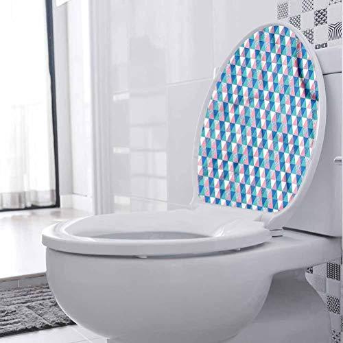 Adhesivo de PVC con triángulo abstracto, con puntos simétricos, decoración de baño para inodoro, baño, hogar, silla, sofá, 30 x 30 cm