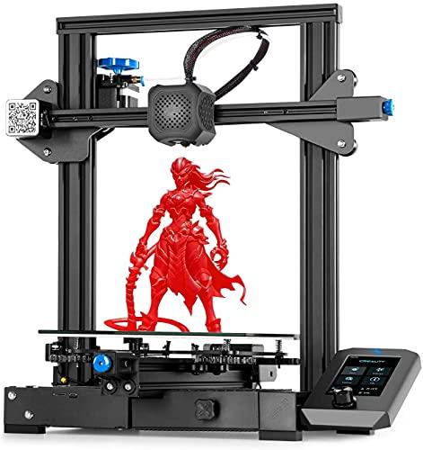 Creality Ender-3 V2, stampante 3D migliorata 2020, con scheda madre silenziosa e ripresa della stampa, pratica cassetta degli attrezzi