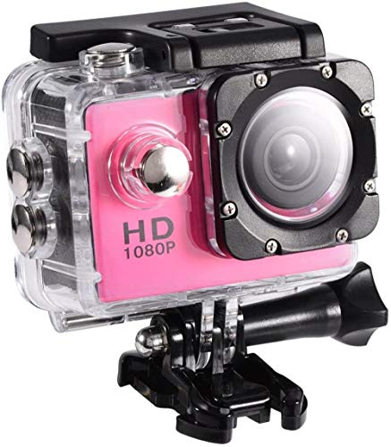 Mini cámara de acción impermeable Mini DV videocámara deportiva con pantalla de 2 pulgadas 30 M soporte subacuático tarjetas de almacenamiento hasta 32 GB 90 ° ángulo fotografía