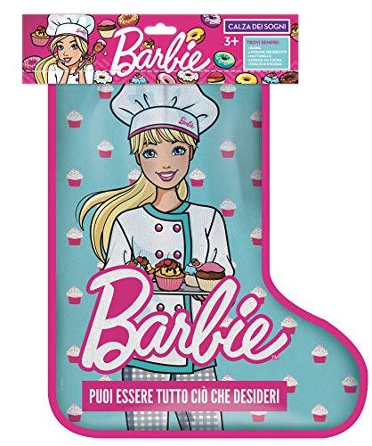 Barbie- Calza della Befana con Bambola Trendy e Tante Sorprese, Giocattolo per Bambini 3+Anni, HBH67