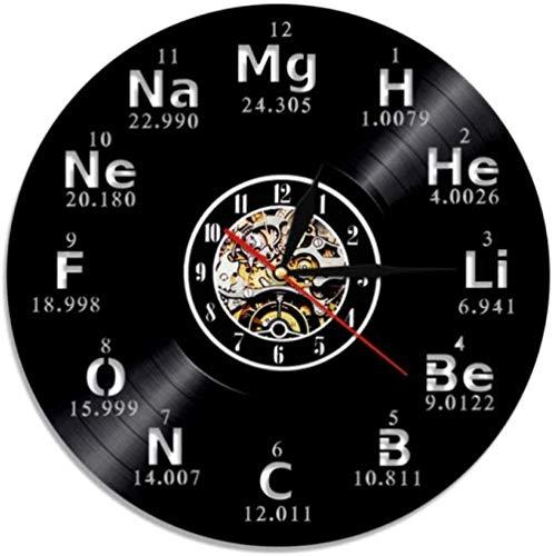 Reloj de pared vinilo registro elementos químicos símbolos químicos mesa periódica profesores idea moderna