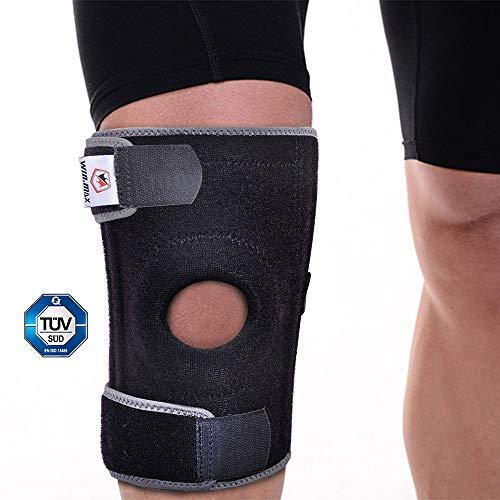 WIN.MAX Kniebandage, Verstellbarer Medizinischer Knieschoner mit Patellaöffnung für Meniskus, Schmerzlinderung und Genesung, Knieschutz für Sport und Reha - Damen und Männer