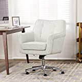 Serta Ashland Ergonomic Home Office Chair with Memory Foam Cushioning, Chrome-Finished Stainless Steel Base, 360-Degree Mobility