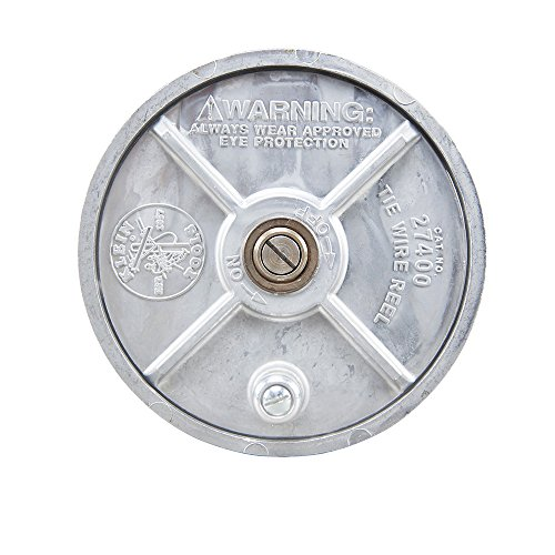 Klein Tools 27400 Tiewire Reel, Lightweight Aluminum, Left Handed and Right Handed with Rewind Knob