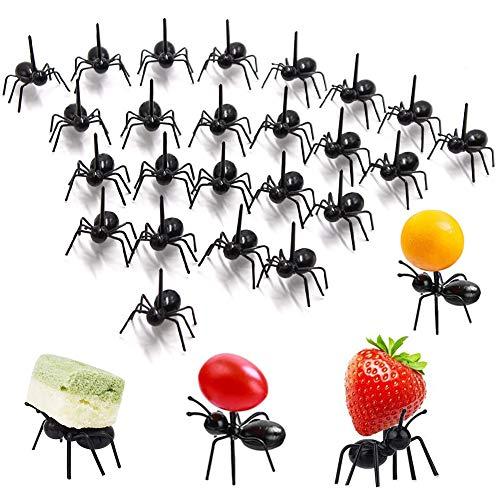 Obst Gabeln, BESTZY 48PCS Mini Obst Gabeln für Kinder Mini Karikatur Zahnstocher Sticks Dekor Plastik Tierfutter Obst Zahnstocher Dessert Gabeln für Kuchen Dessert Gebäck Party Zubehör