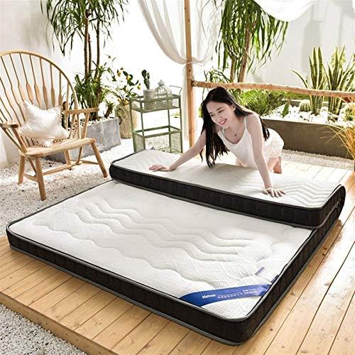 De punto tridimensional plegable colchón de látex, super suave y gruesa 10cm transpirable Tatami, adecuado for la familia del estudiante compartida (blanco), Los varios tamaños están disponibles