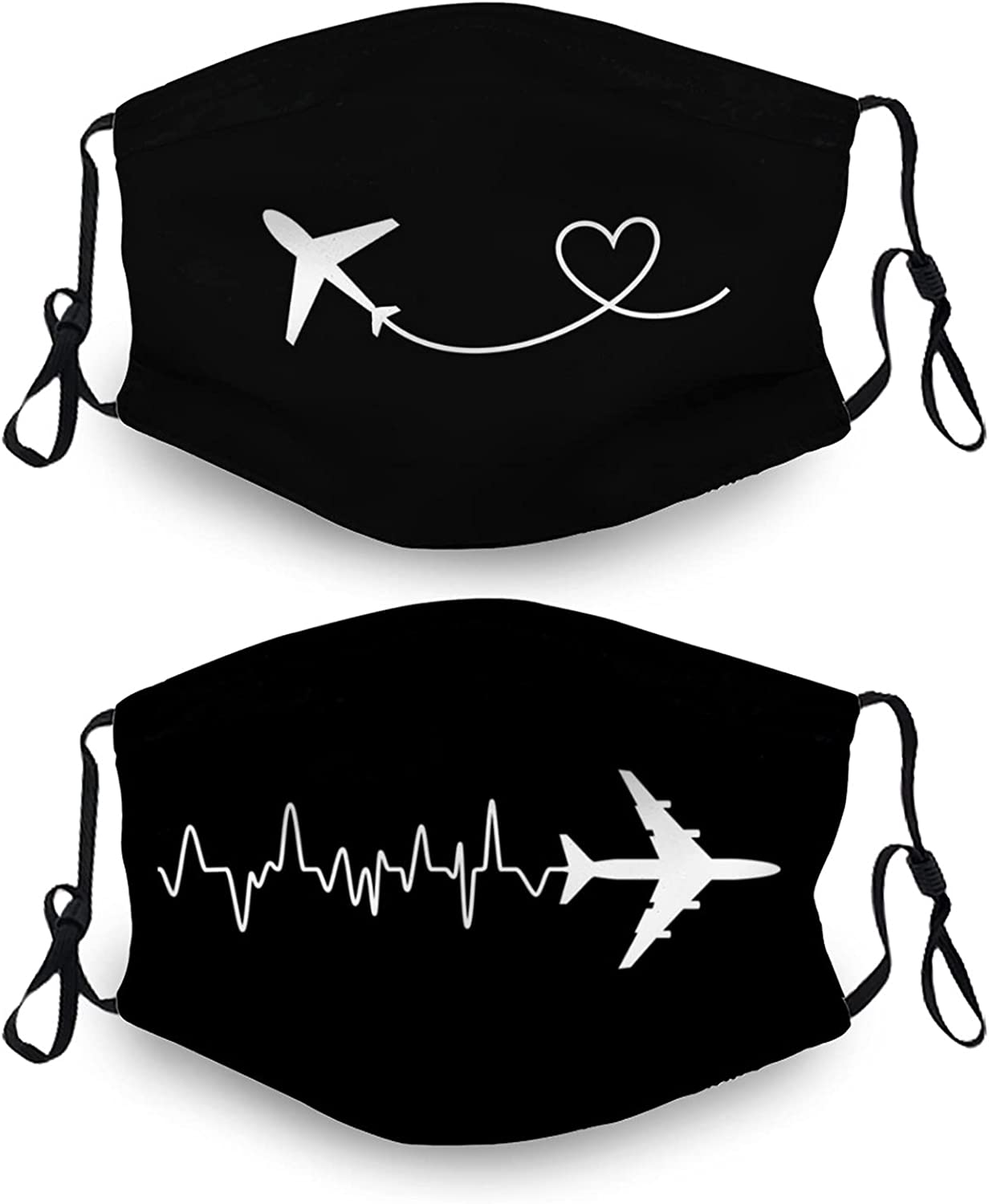 Airplane Mouth Cover with 4 Filter, Breathable-Adjustable Filters Mask Balaclava for Men Women & Teenager