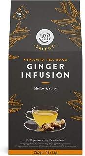 comprar comparacion Marca Amazon - Happy Belly Select - Bolsitas de té de hierbas selecto con jengibre, 4x15 pirámides
