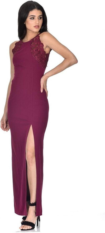 AX Paris Women's Lace Detail Maxi Dress