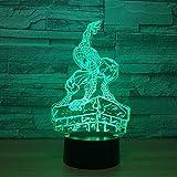 Creative Visuel 3D Acrylique Spider Man Modélisation Veilleuses Led USB Lampe De Table Bébé Chevet Super Héros Luminaire Décor Lumière Cadeau
