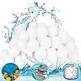 Bola de Filtro para Piscina,Filtro de agua, ecológico, liviano, un filtro reutilizable que reemplaza a 25 kg de arena de filtro, utilizado en piscinas, acuarios y tanques de peces (blanco, 700 g)