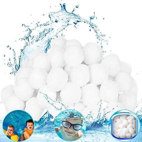 Bola de Filtro para Piscina,Filtro de agua, ecológico, liviano, un filtro reutilizable que reemplaza a 25 kg de arena de filtro, utilizado en piscinas, acuarios y tanques de peces (blanco, 700