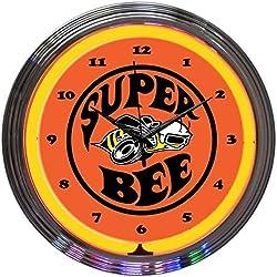 Neonetics Super Bee Neon Wall Clock, 15-Inch
