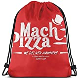 Not Applicable Coulisse Borsa,Mach Pizza (Earthbound) Borsa per Zaino con Coulisse, Zaini Leggeri con Coulisse per La Corsa Atletica in Palestra