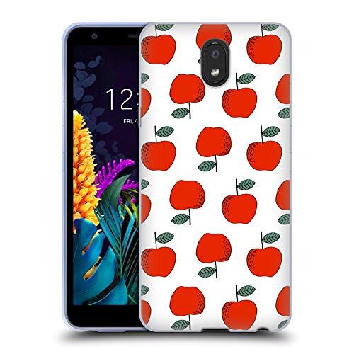 Officiële Andrea Lauren Design Appels Voedsel Patroon Soft Gel Case Compatibel voor LG K30 (2019)