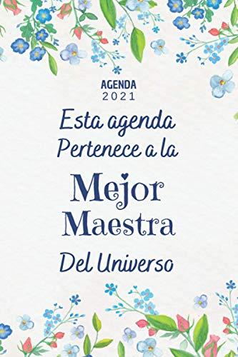 Maestra AGENDA 2021: Regalo Maestra Profesora , Agenda 2021 Semana vista A5...