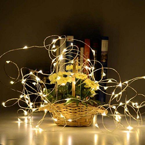 Hunpta solaire en forme de bouteille de vin en liège Guirlande lumineuse 8 LED Lampe de nuit de Noël
