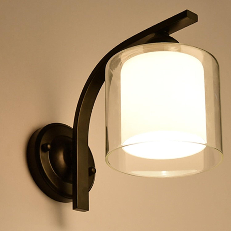 Kreatives Doppelglas Schlafzimmer Nachttischlampe (Farbe   Schwarz)