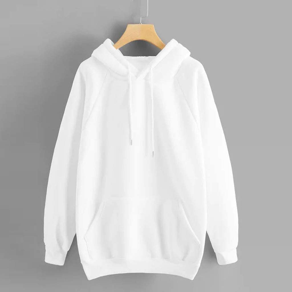 Girls' Hoodie, Misaky Autumn Winter Casual Solid Color Long Sleeve Hooded Pullover Sweatshirt Tops Outwear