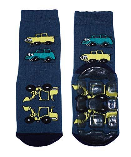 Weri Spezials Baby und Kinder Autos ABS Socken in Marine, Gr.23-26 (3-4 Jahre)