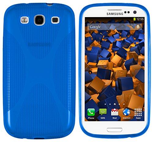 mumbi X-TPU Hülle kompatibel mit Samsung Galaxy S3 / S3 Neo Handy Case Handyhülle, blau