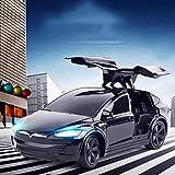 FANPING Tesla de la puerta abierta del coche de control remoto 2.4G RC Drift eléctrico de alta velocidad del coche deportivo profesional recargable que compite con luz LED Buggy Hobby Juguetes for niñ