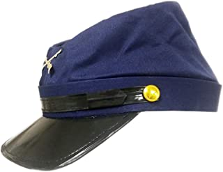 Cotton Civil War Union Blue Kepi Replica Hat S/M, Navy Blue