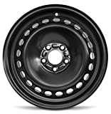 Road Ready Car Wheel For 2013-2020 Ford Fusion 16 Inch 5 Lug Black Steel Rim Fits R16 Tire - Exact OEM Replacement - Full-Size Spare