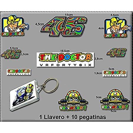 Pegatinas Y Llavero 46 Valentino Rossi The Doctor AM10 Stickers and Key Ring AUFKLEBER VINILOS ADESIVI Decals