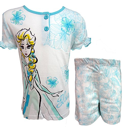 Disney pigiama bambina corto mezza manica in cotone FROZEN art. WD22874 (acqua, 6 anni)