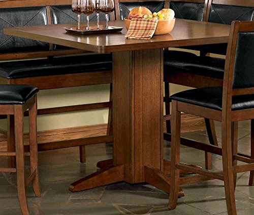 Coaster Lancaster Counter Height Corner Seat with Black Faux Leather