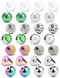SCERRING 14G Ball for Piercing Replacement Balls Spikes Externally Threaded Nipple Industrial Tongue Belly Piercing Rings Body Jewelry Piercing Barbell Parts 5mm 28PCS Rainbow