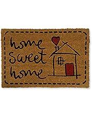 koko doormats felpudos Entrada casa Originales, Fibra de Coco y PVC, Felpudo Exterior Home Sweet Home, 40x60x1.5 cm | Alfombra Entrada casa Exterior | Felpudos Divertidos para Puerta