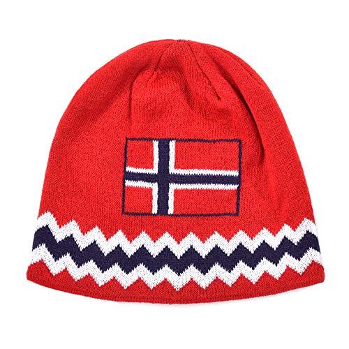 Norge Norway Beanie Mütze Wintermütze