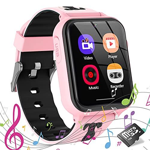 Montre Intelligente Enfant, Jaybest Montre Connectée Enfant avec Téléphone SOS Musique Jeux Caméra Smartwatch Téléphone pour Enfants 4-12 Ans Fille Garçon (Pink)