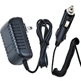 PK Power AC Adapter+Car Charger for RadioShack DC Power Cord 270-1533E Cat. No. 270-1533