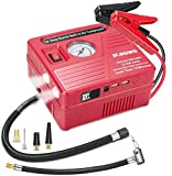 Car Jump Starter with Air Compressor, 2000 AMP Peak Jump Cable, 100 PSI Air Pump, 20000mAh Li-on Battery Jump Pack, Built-in 2 USB Ports and 2 LED Lights