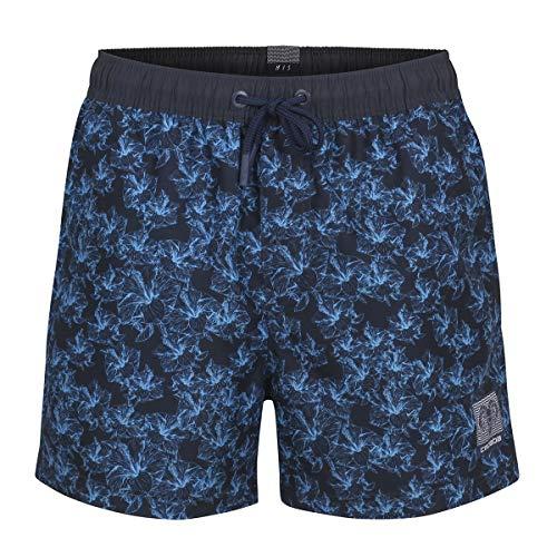 Ceceba Badeshorts blau Hawaiiblütendruck Übergröße, XL Größe:4XL