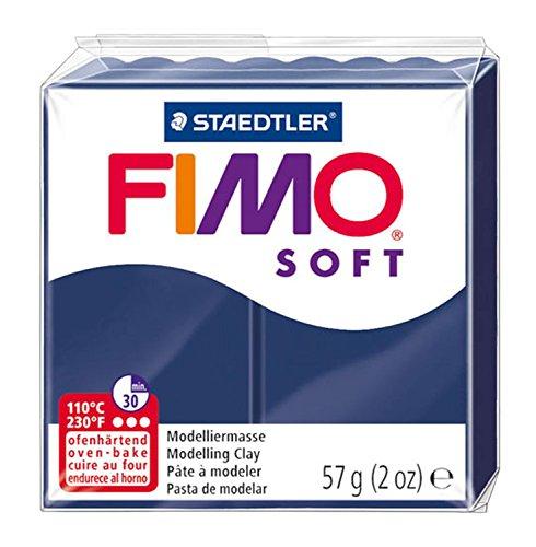 Staedtler 8020-35 - Fimo Soft Normalblock, Modelliermasse, 57 g, windsorblau