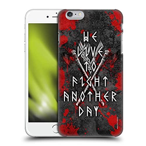 Head Case Designs Licenza Ufficiale Vikings Combatti Un Altro Giorno Loghi E Simboli Cover Dura per Parte Posteriore Compatibile con Apple iPhone 6 Plus/iPhone 6s Plus