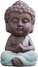 Baosity 4Pc Little Buddha Statue Monk India Handicrafts Ceramic Tea House Miniature