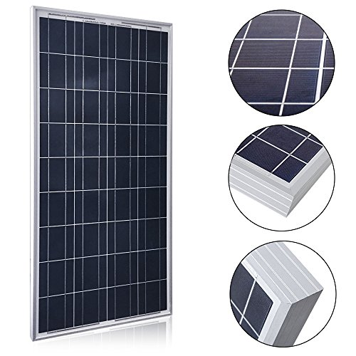 ACOPOWER 100 Watts 100w Poly Solar Panel with MC4 Connectors for 12 Volt Battery Charging RV, Boat, Off Grid