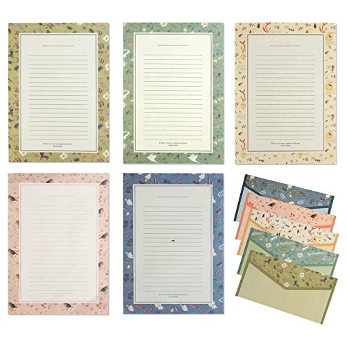 IMagicoo 48 Cute Lovely Writing Stationery Paper Letter Set with 24 Envelope / Envelope Seal Sticker (3)