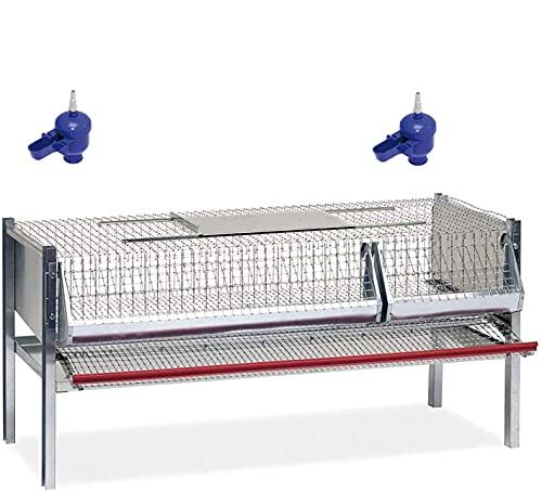 Contro Gabbia per quaglie ovaiole, Completa, per Circa 40/50 Capi cm.100x50x50 h.