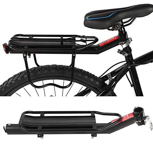 SOULONG Mountainbike Racks Fahrradträger Gepäckträger Rücksitz Träger, Radfahren Zubehör für Rennrad und anderes Fahrrad, Aluminiumlegierung, schwarz, Bearing 10kg
