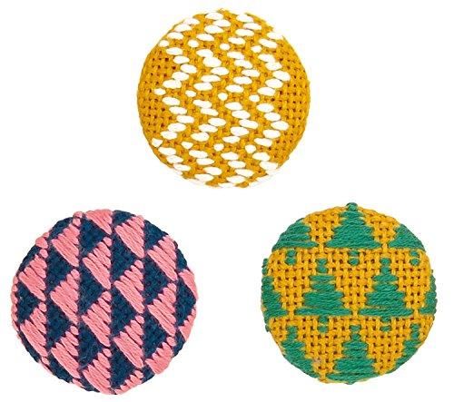 オリムパス製絲 こぎんキット くるみボタン 森 3個セット こぎん57