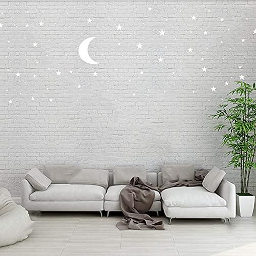 Vinilo adhesivo de pared con luna y estrellas, extraíble para niños, decoración de habitación de bebé, decoración de habitación de bebé, decoración de pared para el hogar, casa, dormitorio