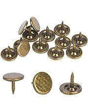100 stuks bekleding kopspijkers, platte kop punaise assortiment kit meubels nagels ijzer kunst benodigdheden accessoires voor deur sofa gestoffeerde decoratie - cyaan brons
